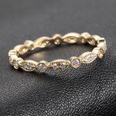 14K Yellow Gold Milgrain Bezel .32ctw Diamond Solid  Wedding Eternity Band Ring