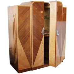 Art Deco Cocktail Cabinet | From a unique collection of antique and modern cabinets at https://www.1stdibs.com/furniture/storage-case-pieces/cabinets/
