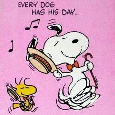 Snoopy dance..! / LOVE Snoopy and Woodstock / Peanuts gang