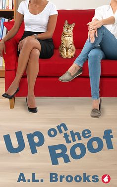 """""""Up on the Roof"""" by A.L. Brooks / When a storm wreaks havoc on bookish Lena's well-ordered world, her laid-back new neighbor, Megan, offers her a room. The trouble is they've been clashing since the day they met. How can they now live under the same roof? Making it worse is the inexplicable pull between them that seems hard to resist. A fun, awkward, and sweet British romance about the power of opposites attracting. (Mar 2018)"""