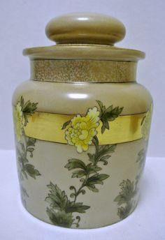 Antique Vintage Limoges Porcelain Tobacco Humidor Ginger Jar Signed & Handpainted Tobacciana Asian Victorian Collectible