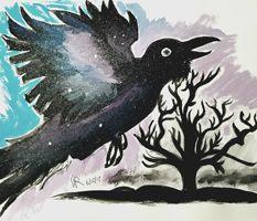 Ravenwinger.com #art #artwork #artist #artist_4_shoutout #artstagram #drawsagram #instaart #instadraw #drawing #inkdrawing #sharpie #sketch #sketchbook #sketching #doodle #prismacolor #markers #nature #fantasy #animals #goth #animedrawing #animeartshelp #bestartblog #creative #depression #psychedelic #acrylic #painting #ravens #commissionsopen