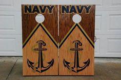 Navy cornhole