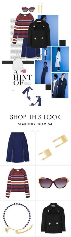 """""""A Hint of Blue"""" by mathilda-moo ❤ liked on Polyvore featuring Oris, David Michael, Prabal Gurung, Forever 21, Tory Burch, Astley Clarke, Marni and Diane Von Furstenberg"""
