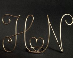 Wedding Cake Topper Two lovers Silver cake topper Gold cake Wedding Cake Toppers, Wedding Cakes, Pearl Letters, Wire Letters, Mr Mrs, Gold Cake Topper, Silver Cake, Wedding Cake Decorations, Wire Crafts
