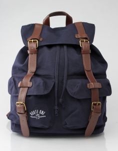 82e89be5c49 Route One Canvas Backpack Canvas Backpack