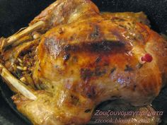 Υλικά!   1 γαλοπούλα 4 κιλά περίπου εγώ παίρνω αυτή με το θερμόμετρο.   ½ φλιτζάνι βούτυρο καλό   Αλάτι πιπέρι  Χυμό λεμόνι κα... Food Network Recipes, Turkey, Chicken, Meat, Kitchen, Christmas, Xmas, Cooking, Turkey Country