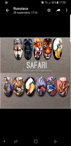 #naildesign #nailart #animalnail #nailartcollection