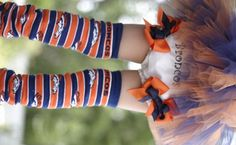 College or NFL Football Leg Warmers for Infants, Toddlers and Teens-college or NFL leg warmers, infant, toddler, team