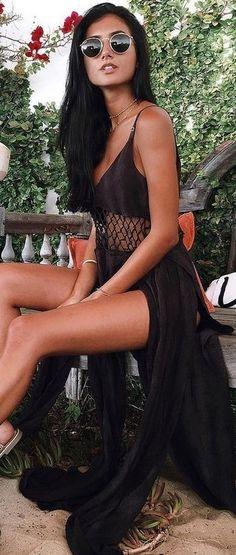 Maxi Black Dress                                                                             Source