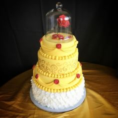 beauty and the beast belle cake / sugarbranchcakes