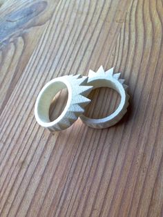3D-printed strong & lightweight plastic rings. Available on http://www.etsy.com/shop/MatthiasBD