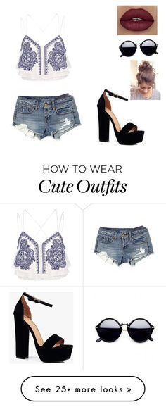 """""""With my girls"""" by gabyluanete on Polyvore featuring River Island, American Eagle Outfitters and Boohoo"""