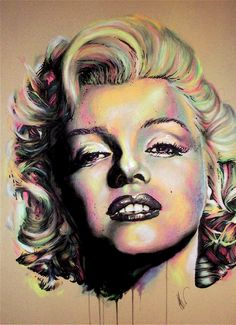 Monroe by ~Flashback33 on deviantART- drawn with sharpies, charcoal, watercolors, chalk pastels, and acrylic paint..