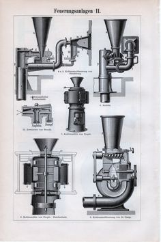 1898 Pulverized Coal-Fired Boiler Print Powdered by Craftissimo