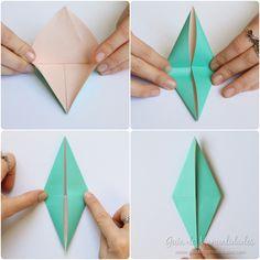 Cómo hacer grullas de origami y armar un móvil - Guía de MANUALIDADES Diy, Kawaii, Christmas, Ideas, How To Make, Paper Crane Mobile, Origami Step By Step, Paper Ornaments, Bebe