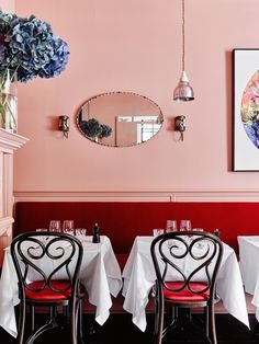pink and red | entrecote