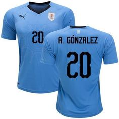 541a2526d Men 20 Alvaro Gonzalez Jersey Soccer Uruguay Jersey World Cup 2018 Jersey