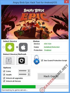 Unlimited Coins, Health, Unlock all upgrades, heroes in Angry Birds Epic  Download Angry Birds Epic Cheats:  http://easiergame.net/angry-birds-epic-cheat-hack-ios-android/