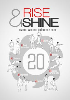 Instructions : Repeat each move 20 times with no rest in between. Download High Resolution .PDF poster