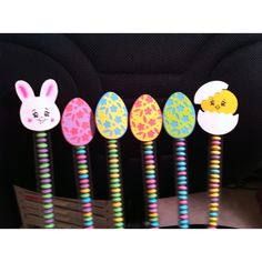Easter candy sticks.