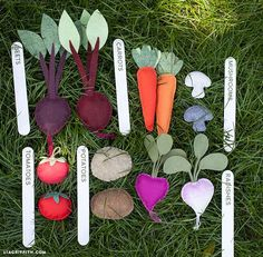 Lia Griffith's Felt Garden Veggies
