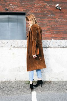 This suede coat is everything!