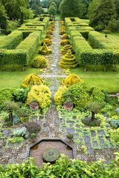 [That hedge has legs. Boxwood Garden, Evergreen Garden, Highgrove Garden, Magnolia Gardens, Manor Garden, Italian Garden, Formal Gardens, Hedges, Garden Paths