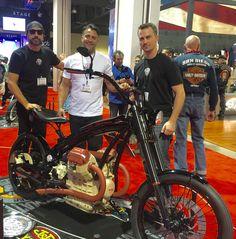 The Moto Guzzi Schwein getting lots of attention!