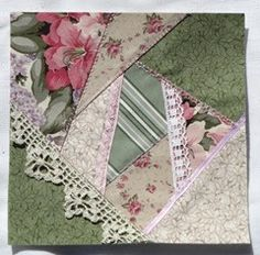 I'm finally caught up with my swaps (whew!) Here's the crazy quilt blocks for Jean. She sent the fabric and a couple bits of ribbon. I ad...