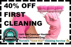 40% OFF First Cleaning Sale #cleaningservices