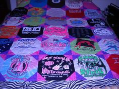 Custom Birthday T Shirt Quilt      50  00 by fabricartist21, $50.00