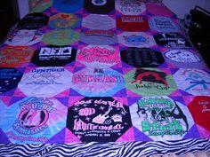 Custom Birthday T Shirt Quilt      50  00 by fabricartist21, $50.00