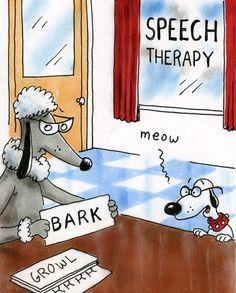 Animal speech therapy