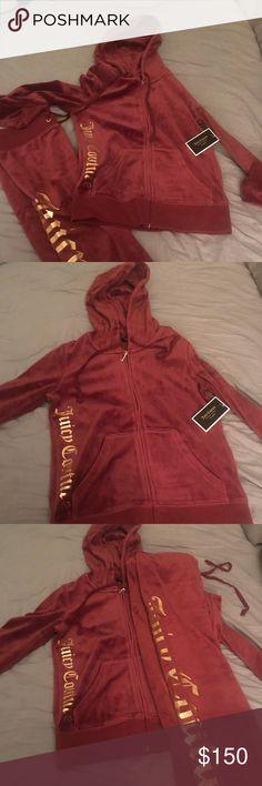Brand New Juicy Couture Sweatsuit XS Maroon Juicy Couture Sweatsuit, Never Worn Juicy Couture Tops Sweatshirts & Hoodies