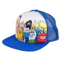 Amazon.com: Adventure Time Characters Trucker Hat: Clothing