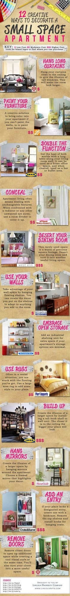 12 creative ways to decorate a small space apartment