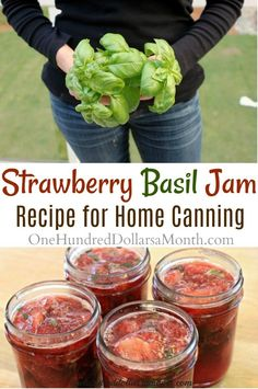 Canning 101, Home Canning, Canning Recipes, Canning Pears, Basil Recipes, Jelly Recipes, Fruit Recipes, Apple Recipes, Drink Recipes