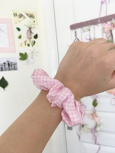 Handmade scrunchies for sale on my Etsy store Scrunchies, Etsy Store, Gingham, Etsy Seller, Trending Outfits, Unique Jewelry, Handmade Gifts, Pink, Crafts