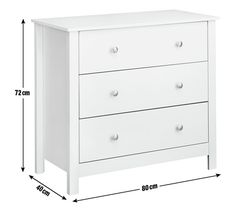 Buy Collection Osaka 3 Drawer Chest - Soft Grey at Argos.co.uk, visit Argos.co.uk to shop online for Chest of drawers, Bedroom furniture, Home and garden