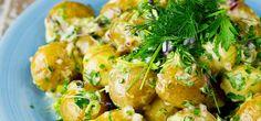 Bilde av potetsalat medsennepsdressing