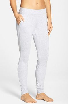 Alo 'Yen' Mesh Inset Ribbed Sweatpants,  - Grey