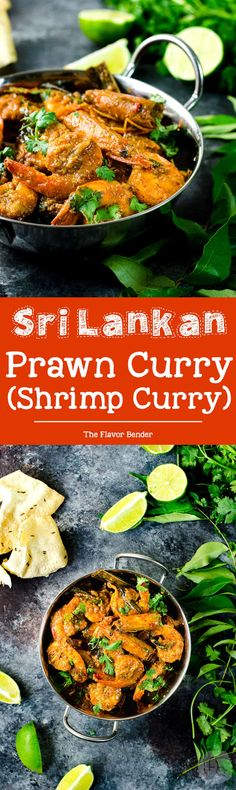 Authentic Sri Lankan Prawn Curry (Shrimp curry) - Learn all the tips and secrets into making the best spicy and creamy prawn or shrimp curry in your life! Can be adapted to your preference, and a perfect and easy recipe for a weeknight meal! via @theflavorbender
