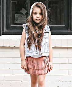 Look what I found on #zulily! Dusty Pink Fringe Skirt - Toddler & Girls #zulilyfinds