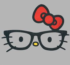 Hello Kitty Nerd Glasses | Hello Kitty Nerd Glasses Juniors T Shirt - Grey