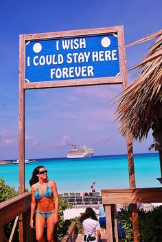 Half Moon Cay is a private island that Carnival Cruise Lines uses as a port of call in the Bahamas. Bahamas Honeymoon, Bahamas Cruise, Cruise Port, Caribbean Cruise, Cruise Vacation, Dream Vacations, Vacation Spots, Nassau Bahamas, Carnival Dream Cruise