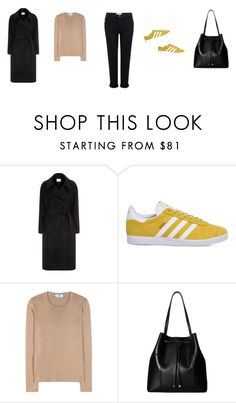 """""""Untitled #3622"""" by memoiree ❤ liked on Polyvore featuring Sandro, adidas, Prada, Tory Burch and Current/Elliott"""