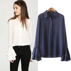 Blouses women 2017 Brand Spring Summer Blouse Fashion Ladies Office Shirts Chiffon Top Long Sleeve Designer Tops Formal Shirts