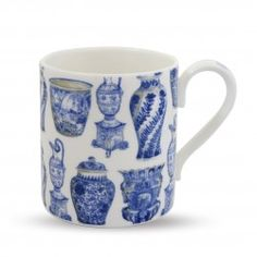 Queen Mary delft vase mug
