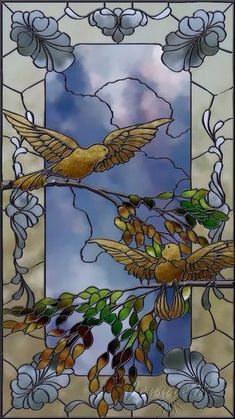 http://www.pinterest.com/pin/385480049325346211/ Stained Glass 'Bird Study' by spitfirelas on Flickr